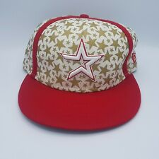 Unused New Era MLB 59Fifty Youth 7 1/8 Houston Astro Red White Gold Star Cap Kid
