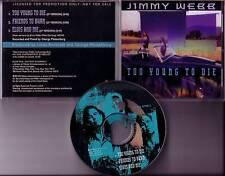 JIMMY WEBB 3Trk SAMPLER PROMO radio DJ CD Linda Ronstadt Produced 1993 USA MINT