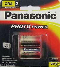 2 Pk Panasonic CR2 3v Lithium Photo Batteries  EXP 2019