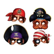 *4 paper PIRATE MASKS*Party Favors*PIRATES OF THE CARIBBEAN*