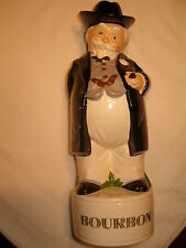 "Gentleman Bourbon Liquor Decanter Bottle Bar Decor Approx 12"" Tall"