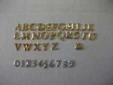 Buchstaben und Zahlen aus Wachs, 8mm gold und silber