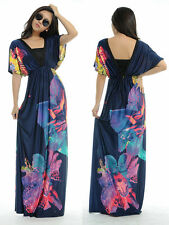 Y02 Women V-Neck Floral Printing Bohemia Maxi/Long Dress Plus Sz 18-36 2XL-6XL