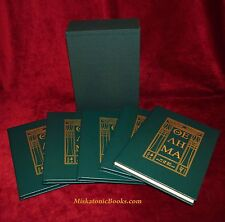 THE HOLY BOOKS OF THELEMA by Aleister Crowley, 5 volumes, Bound in Goat Morocco