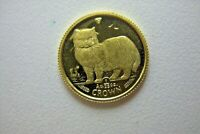 1989 - ISLE  OF  MAN  1/25 oz. GOLD  BURMESE  CAT -  PROOF