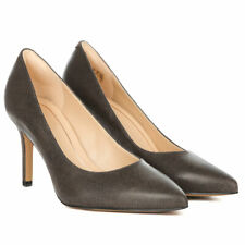 Clarks Ladies Smart Court Shoes DINAH KEER Taupe Leather UK 6 / 39.5