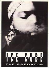 ~Ice Cube The Predator 1992 Poster Original Smoking Skull Pipe 23x35 Import NOS~