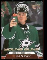 2020-21 UD Series 1 Canvas Young Guns #C98 Jake Oettinger RC - Dallas Stars