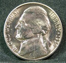 1956 P Jefferson Nickel, Choice, BU, Fresh From Bank Roll, Mint of only 35 mil