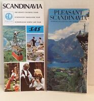 Scandinavia 1969 Travel Booklets Denmark Norway Sweden Vintage Tour Brochures