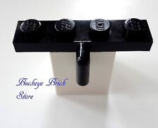 LEGO Black Plate, Modified 1x4 with Arm Down , Lot/4