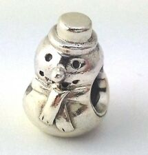 Authentic Pandora Sterling Silver Snowman Bead Charm 790374 New