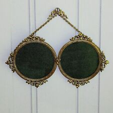 Antique French Gilded Double Floral Top Hanging Photo Frame