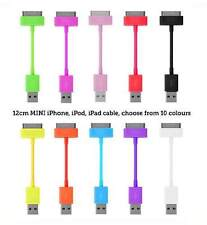 10 x Short USB Data cable sync charge lead for Apple iPod iPhone 4S 4 4G 3GS 3