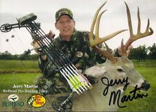 New listing Autographed Jerry Martin Redhead Pro Hunting Team Card - Bass Pro Shops