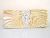 POCHETTE ORO donna borsello CRISTALLI cerimonia clutch STRASS borsa 75