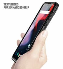 OnePlus 6 Shockproof Case [w/Free Tempered Glass Screen Protector] Black