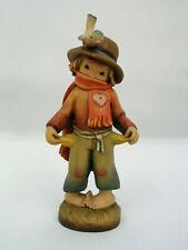"Anri Ferrandiz 6"" Wooden Figurine The Poor Boy - Pockets Are Empty"