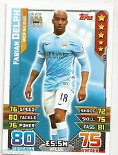 2015 / 2016 EPL Match Attax Base Card (160) Fabian DELPH Manchester City