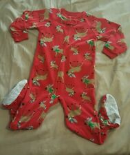Child of Mine Cute Reindeer Red Sleeper Pajamas One Pice Size 3T EUC