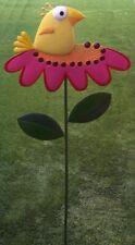 "Garden Lawn Yard Decoration Whimsically Styled Yellow Bird NEW 48"" tall"