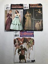 3 Simplicity 7312 8192 4902 Patterns Women Theater Historic Reenactment Costume