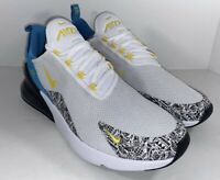 New Men's Nike Air Max 270 N7 White Blue Athletic Shoes Size 12 CJ0949-100