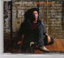 (FT599) David Jordan, Sun Goes Down - 2007 DJ CD