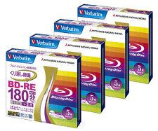 20 Verbatim Rewritable Bluray BD-RE 25GB 2x Speed Inkjet Printable Blu ray Discs
