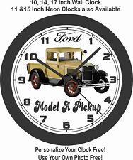 1931 FORD MODEL A PICKUP  WALL CLOCK-FREE USA SHIP