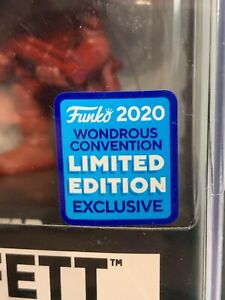 Funko Pop! - BOBA GETT 297 FUTURA Red - WONDERCON SHARED STICKER - Star Wars [1]