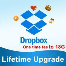 Durata di aggiornamento dello spazio Dropbox 18 GB in 1 Giorno
