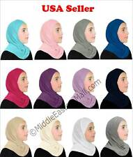 1 Piece Girl cotton Al Amira Hijab Multi color Girls Kids Toddler shawl Islamic