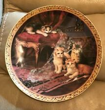 "Regency Kittens Collection ""The Missing Curtain� Collector Plate 8"" Collectible"