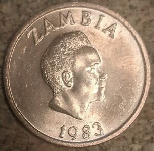 Zambia 2 Ngwee 1983 Coin