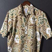 Reyn Spooner Mens Hawaiian Button Down Camp Shirt Aloha Floral Size XL VTG