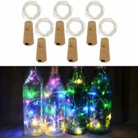 1- 6X Copper Wire Wine Bottle Cork Battery Operated Fairy String Lights 1M 10LED