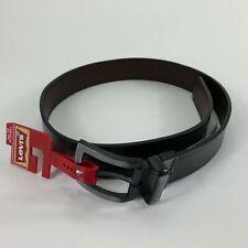 Levis Mens Reversible Coated Leather Belt Black Brown 32