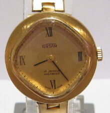 VINTAGE*FORSAM*17 JEWELS,SWISS,GOLD PLATED LADIES WATCH,WORKS,SERVICED # 612