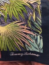 """Tommy Bahama Palm Fronds Leaves 100% Cotton Beach Towel NWT Blue Green 35x66"""""""