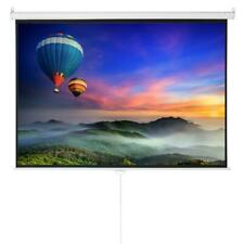 Multi Use 100 Hd 43 Projector Projection Screen 4k 3d Manual Pull Down