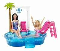 BARBIE POOL & SLIDE PLAYSET DGW22 2016  *NEW*