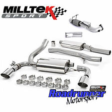 """Milltek Focus RS MK3 Turbo Back Exhaust System & DeCat Downpipe 3"""" Resonated Pol"""