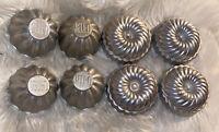 Vintage Tin Jello Mold Lot Of 11 Aluminum Small Cake Molds Baking Pan Jell-o Jif