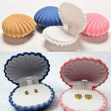 Shell Velvet Gift Box Ring Boxes Jewelry Display Bag Earing Cute Storage Case
