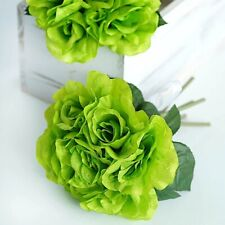 6 Silk Roses Bouquets Flowers Wedding Party Centerpieces Home Wholesale