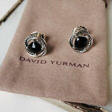 with Black Onyx 7x7 New Authentic New listing David Yurman Silver Stud Infinity Earrings