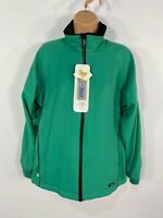 BNWT WOMENS PROQUIP JADE GREEN WATERPROOF LIGHTWEIGHT GOLF JACKET COAT UK 10-12