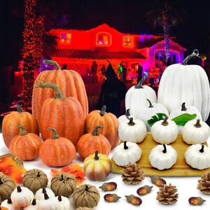 Large Mini Artificial Pumpkin Foam Simulation Props Halloween Decorations Decor