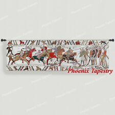 """Bayeux-III Medieval Old World Tapestry Wall Hanging, Cotton 100%, 57""""x18"""", US"""
